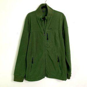 Oakley XL Green Fleece Tactical Jacket Zip Sweater